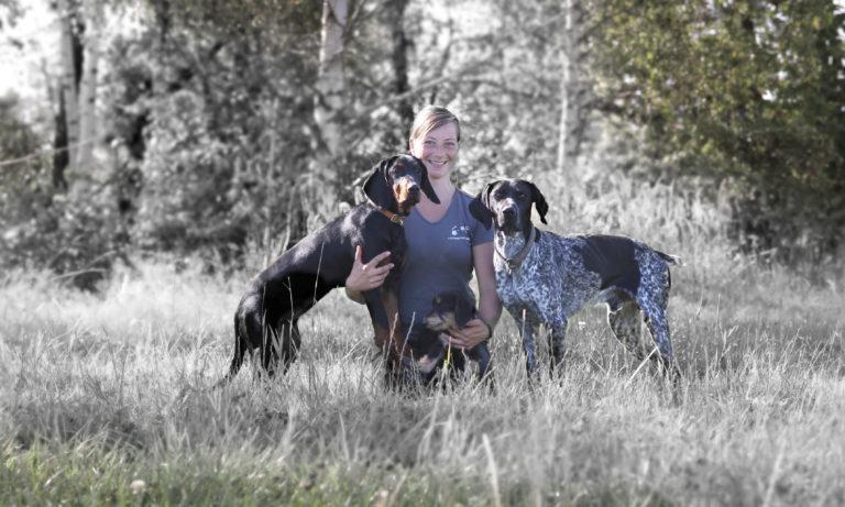 Fortgeschrittener Unterricht mit Hunden